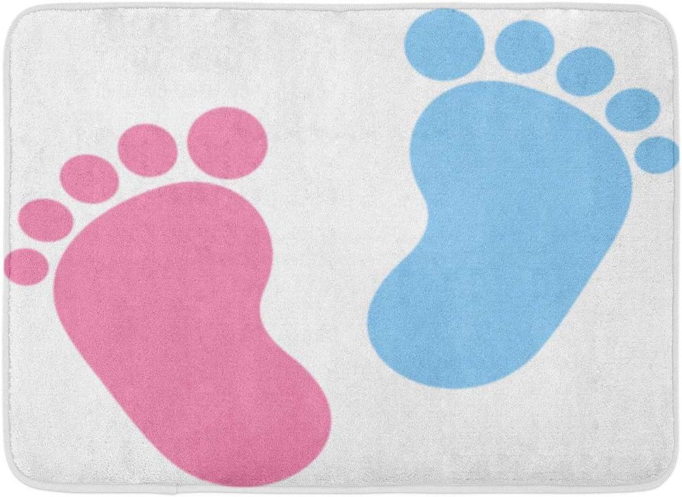 LINFENG Felpudos Pie Huella del bebé Rosa y Azul Niño Niño ...
