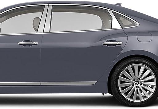 Stainless Steel 6pc Upgrade Your Auto Pillar Post Covers for 2015-2016 Hyundai Genesis Sedan
