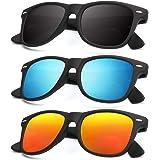 Polarized Sunglasses for Men and Women Matte Finish Sun glasses Color Mirror Lens 100% UV Blocking