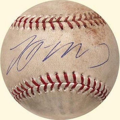 GNED 1st NY METS HOME RUN SHEA STADIUM GAME USED 2007 BALL - MLB Autographed Game Used Baseballs (Autographed Shea Stadium)