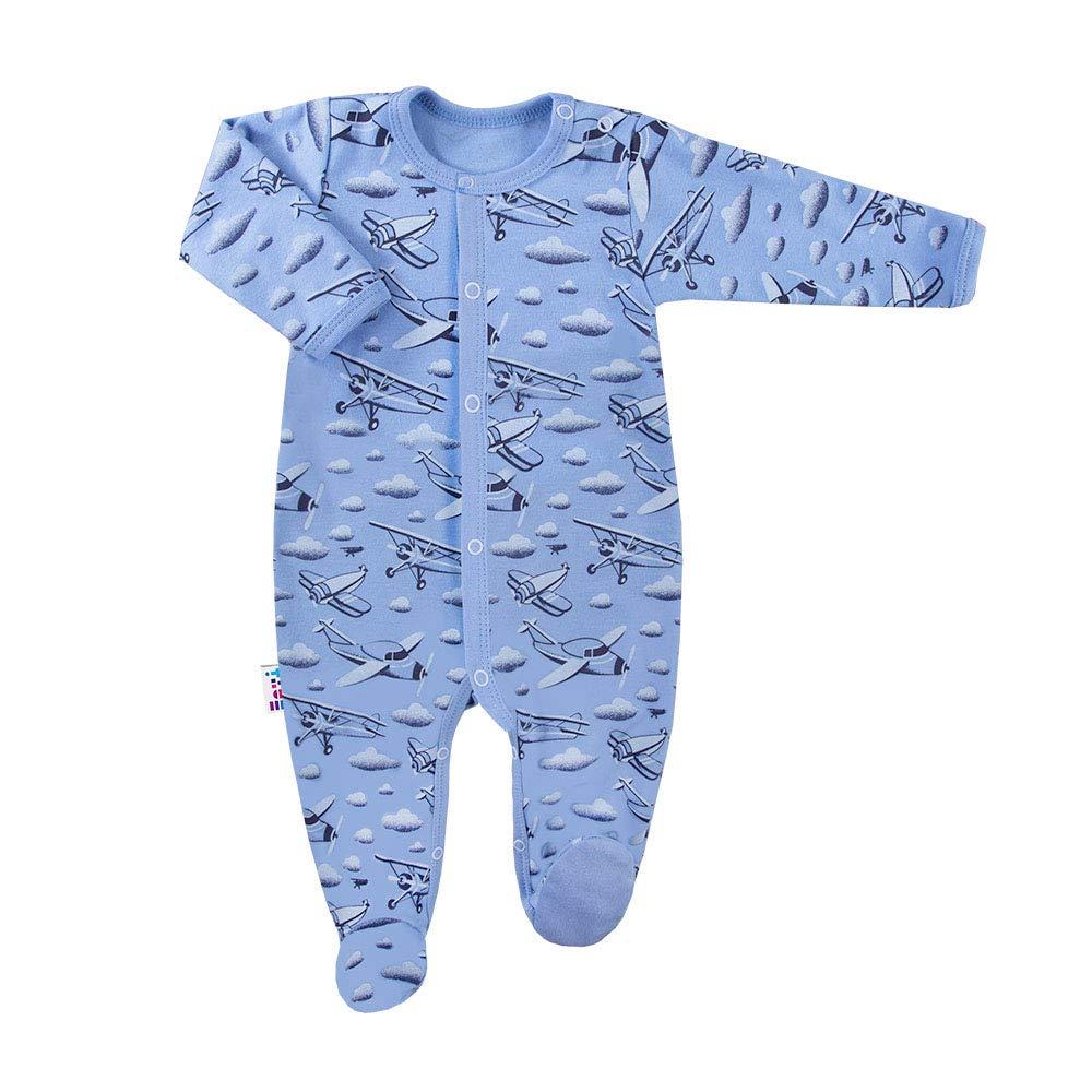 Tutina per Neonato Eevi Sky a Maniche Lunghe in Cotone Colore: Blu