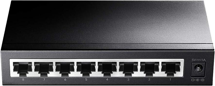 Cudy Gs108 8 Port Gigabit Netzwerk Switch Schwarz Computer Zubehör