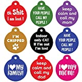 GoTags Funny Dog and Cat Tags Personalized with 4