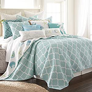 Amazon Com Levtex Del Ray Full Queen Quilt Set White
