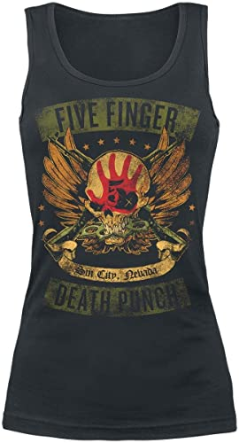Five Finger Death Punch Locked & Loaded Top Mujer Negro