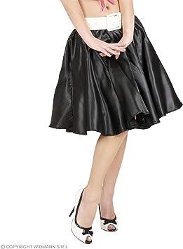 WIDMANN Rock `n Roll falda de satén negro Giro Chica. Talla: M ...