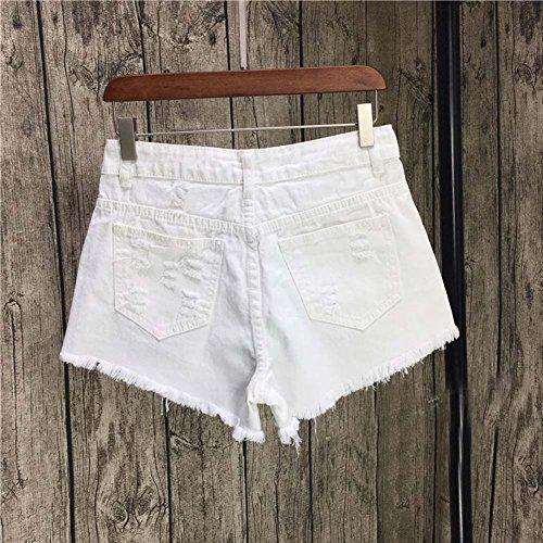 Einfache Design High Taille Jeans Shorts Denim Shorts für Frauen, A