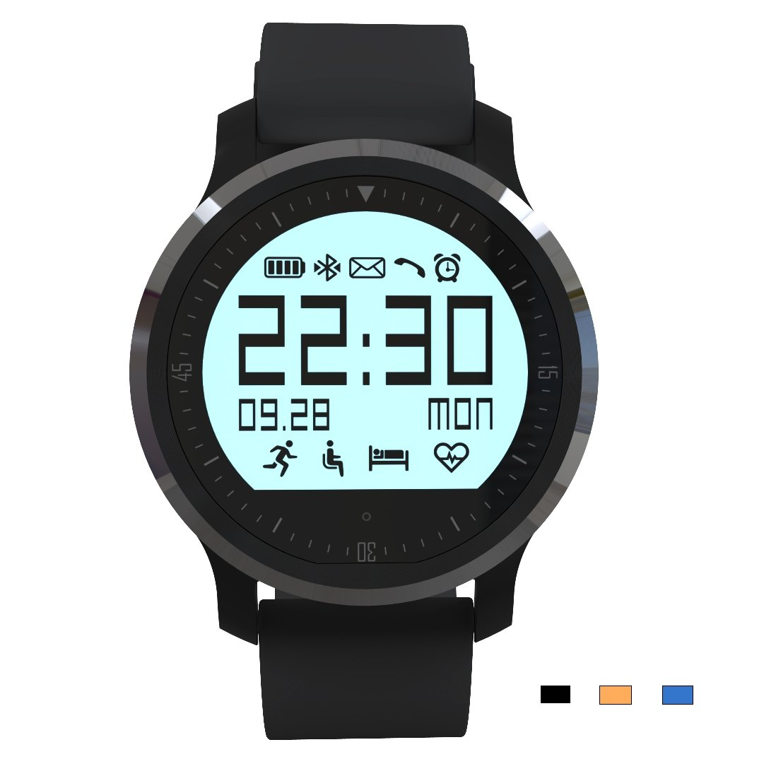 F68 Bluetooth Heart Rate Smart Watch Touch Screen Sports Wristwatch IP67 Waterproof For Android And IOS by SLI Wearable Sports Electronics