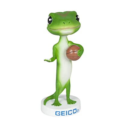 amazon com geico gecko basketball bobblehead wobbler nodder toys