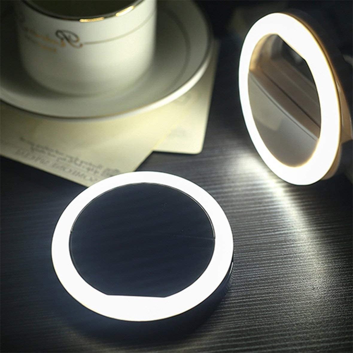 Portable Universal Mobile Phone Selfie Light Clip-On Design Luminous Lamp LED Flash Light Phone Ring For Samsung#Pennytupu