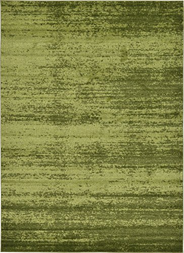 Hunter Green Area Rug - Over-dyed Modern Vintage Rugs Green 7' x 10' FT Palma Collection Area Rug - Perfect for any Place