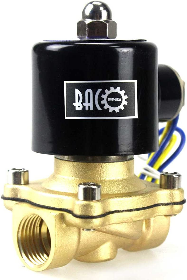 "BACOENG 3/4"" 110VAC VITON Solenoid Valve (1/4"",3/8"",1/2"",3/4"",1"" 12VDC and 110VAC Available)"