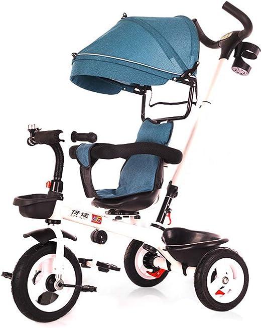 CHENGXIAOJUAN Bebé 4 en 1 Triciclo Plegable Bicicleta Plegable ...