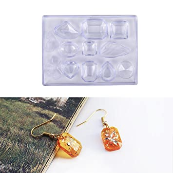 1 pcs cabochon pequeño de silicona molde para resina epoxi con colgante collar pendientes joyería Nail