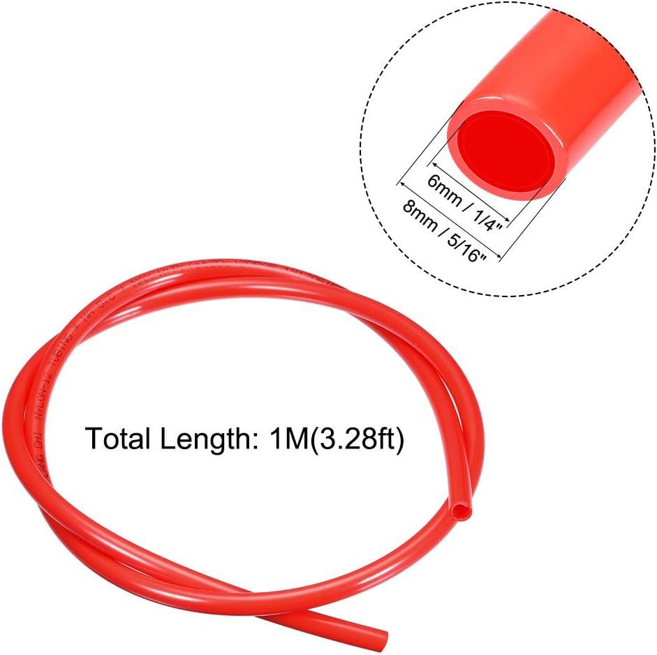 OD x 3.3ft Air Brake Tubing Nylon Air Line Hose Red 1//4-inch sourcing map Pneumatic Tubing 6mm