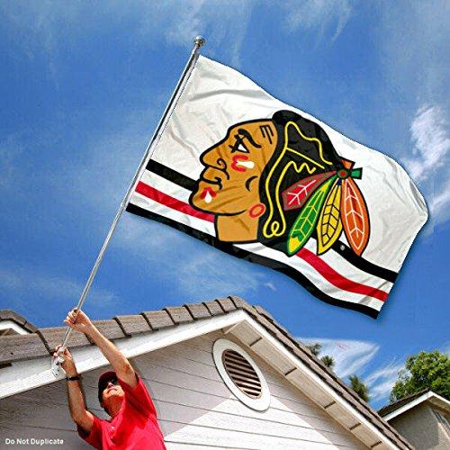 WinCraft Chicago Blackhawks White Flag