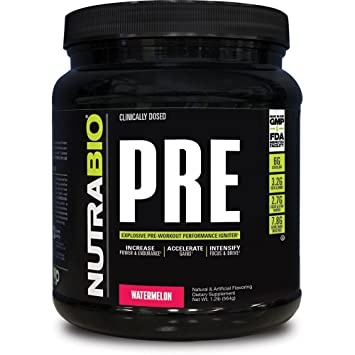 NutraBio PRE Workout V5 - Watermelon