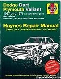 H30025 Haynes Dodge Plymouth Dart Demon Valiant Duster Barracuda 1967-1976 Repair Manual