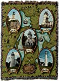 Pure Country Weavers Lighthouses of The Lakes II Blanket Tapestry Throw