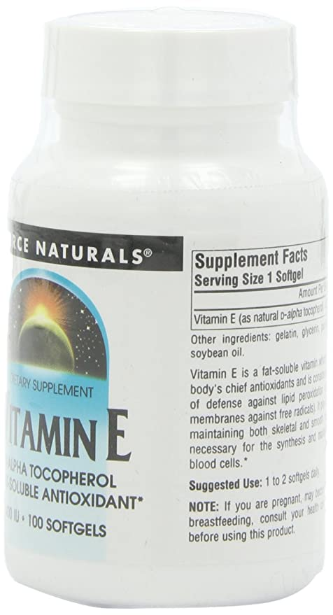 Source Naturals Vitamin E 400IU, Fat-Soluble Antioxidant ...