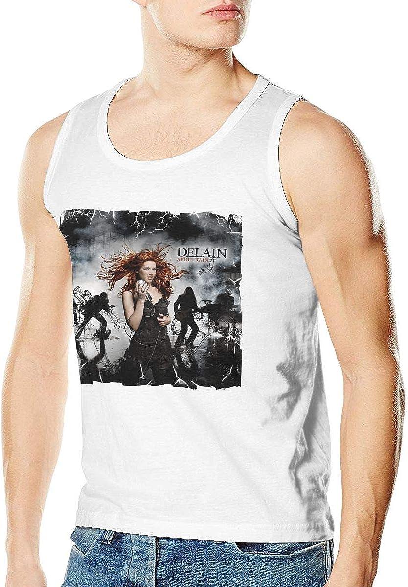 April Rain Mens Running Sleeveless Tank Vest T-Shirt White Delain