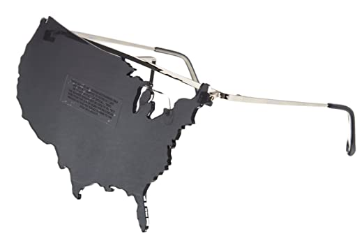 6c7c37f0c79 Image Unavailable. Image not available for. Color  LINDA FARROW Jeremy Scott  USA MAP Sunglasses ...