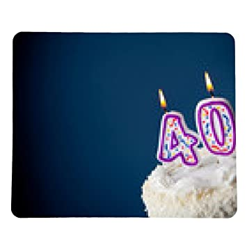 My Puzzle Design Cake Birthday With Candles For 40th Mousepad