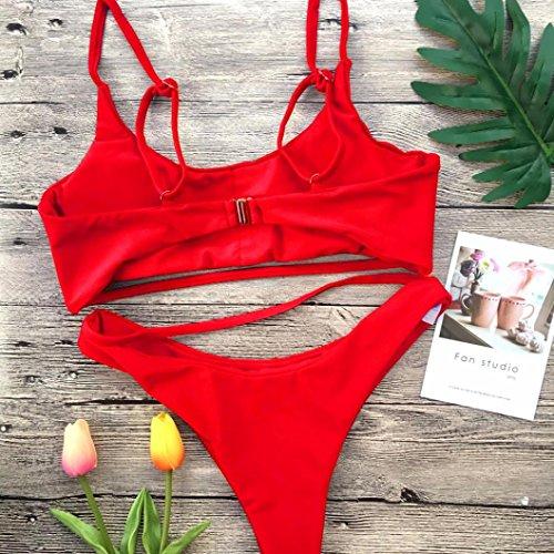 Donna Up da Pezzi Costume Bagno Bikini Mare Costumi Donna Push da Sexy Ragazza Rosso Due Push Up beautyjourney Bagno Due Costumi Brasiliana Donna Due Pezzi Pezzi Costume Costume UnHwtOqx
