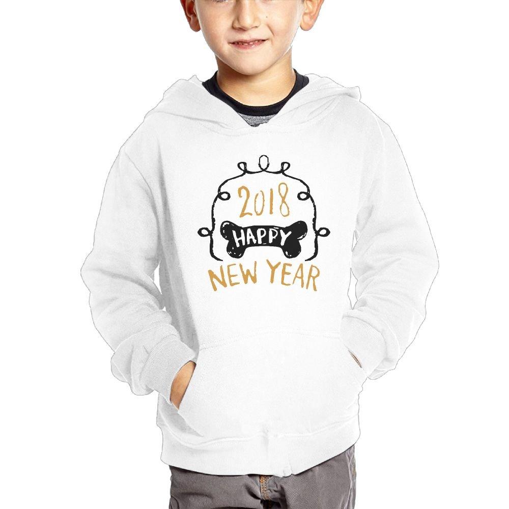 2018 Years of Dog Boys Casual Soft Comfortable Sweatshirts Pocket Hoodies