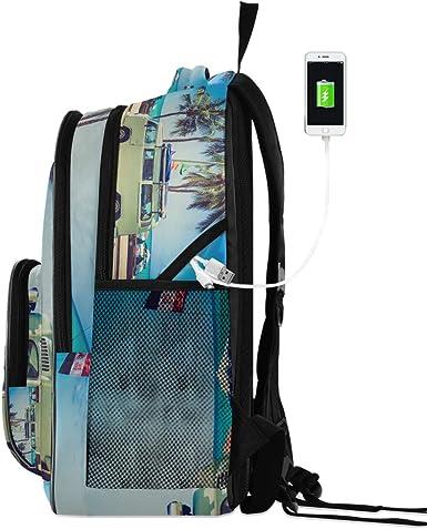 Mochila de viaje para ordenador portátil de viaje con puerto