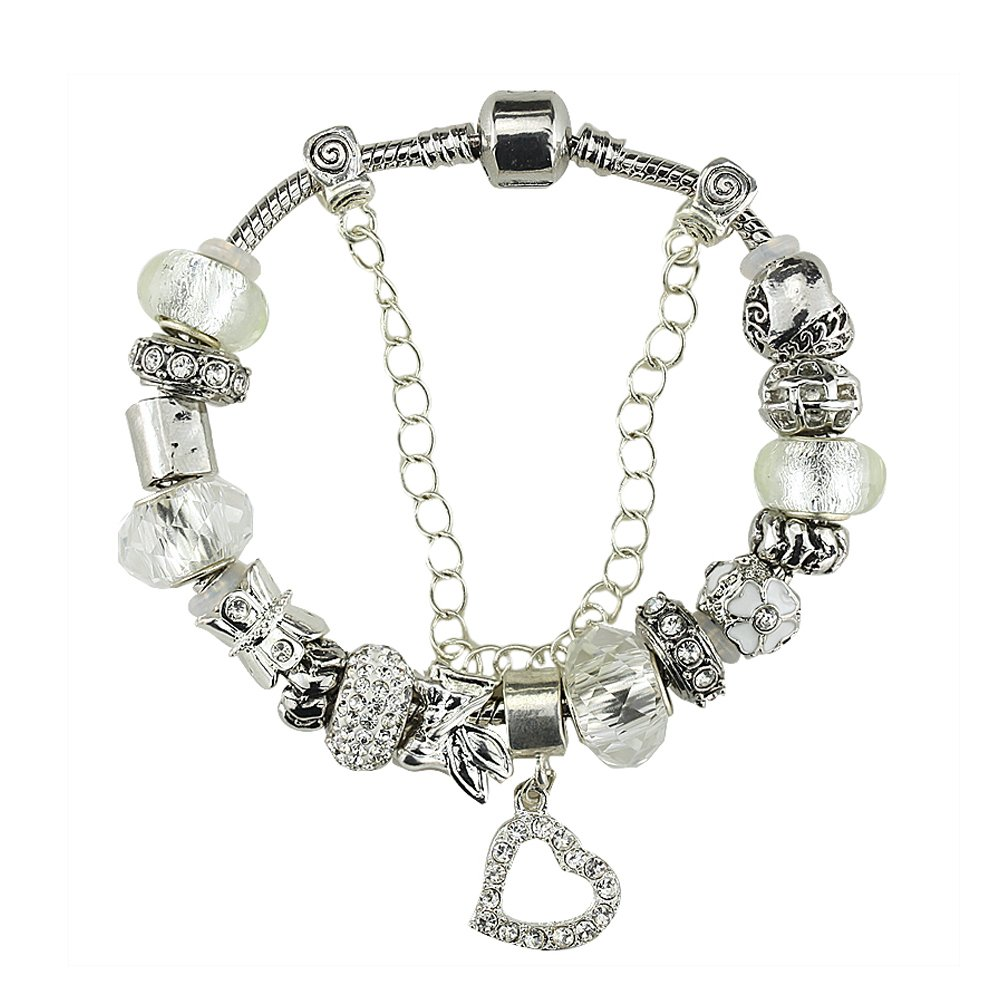 White Birch Charm Bracelet for Women White