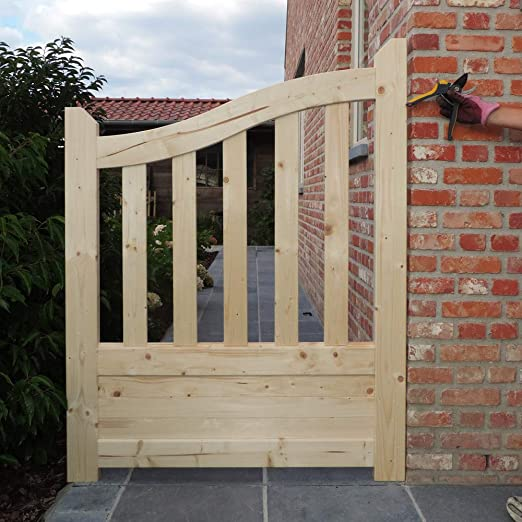 Habitat et Jardin - Portillo de jardín fabricado en madera de Gante con unas dimensiones de 1 x 1, 30 x 1, 10 m.: Amazon.es: Jardín