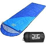 mysuntown Weather Sleeping Bag - Comfort, Lightweight & Portable Camping Sleeping Bag with Compression Bag
