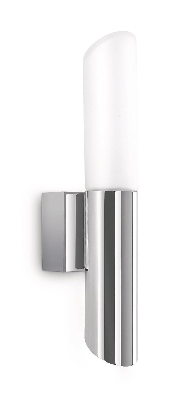 Philips Stim Lampada Cilindro Bagno Parete, Lampadina Inclusa, Bianco e Cromo [Classe di efficienza energetica D] 340841116