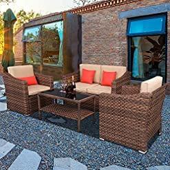 4 Piece Wicker Patio Furniture Sets