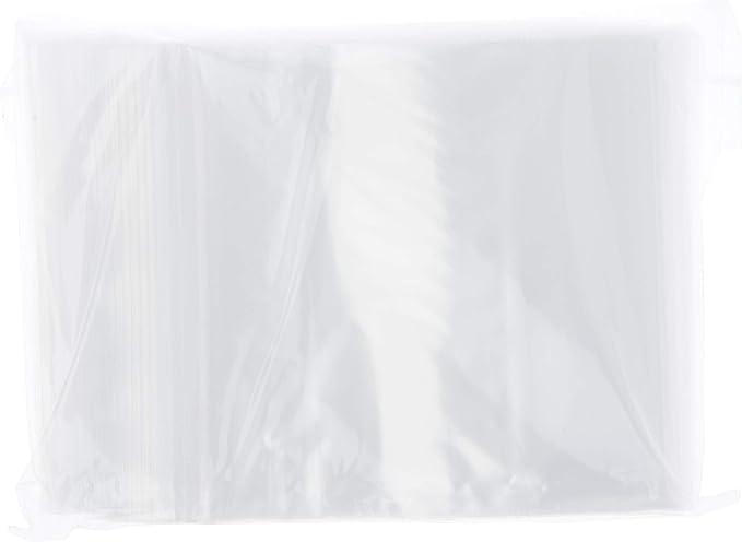 4x5 2 Mil Clear Flat Food Grade Plastic Poly Bags 1000