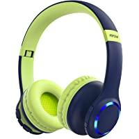 Mpow CH9 Kids Headphones Bluetooth 5.0 LED Light, 14hours Playing Wireless Foldable Headset w/Mic, Volume Limited 85dB…