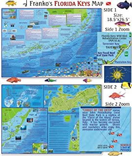 Map Of The Keys Florida.Amazon Com Florida Keys 3d Dive Maps Key Largo Islamorada Marathon