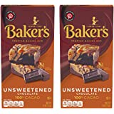 Baker's Unsweetened Baking Chocolate Bar, 4 Oz (Pack of 2) KOSHER OKd