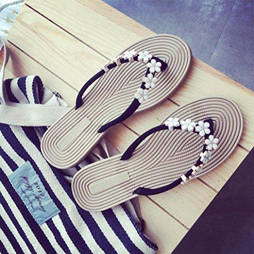 hunpta Fashion Women Summer Sandals Slipper Indoor Outdoor Flip-Flops Beach Shoes Black ls9qTdD9C