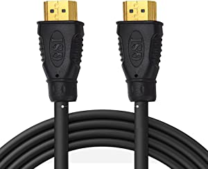 Pyle 6ft' High Definition HDMI Cord - Portable Universal Gold Plated HDMI Cable Wire Adapter - TV to Player/Speaker / Computer Audio Video Connection - Supports 1080p HD 4K, 3D - GAHDMI6 (Black)