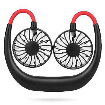 Simpeak USB Ventilator Leise 3 Speed Betrieb Hängender Halsfächer Mini Faul Fan