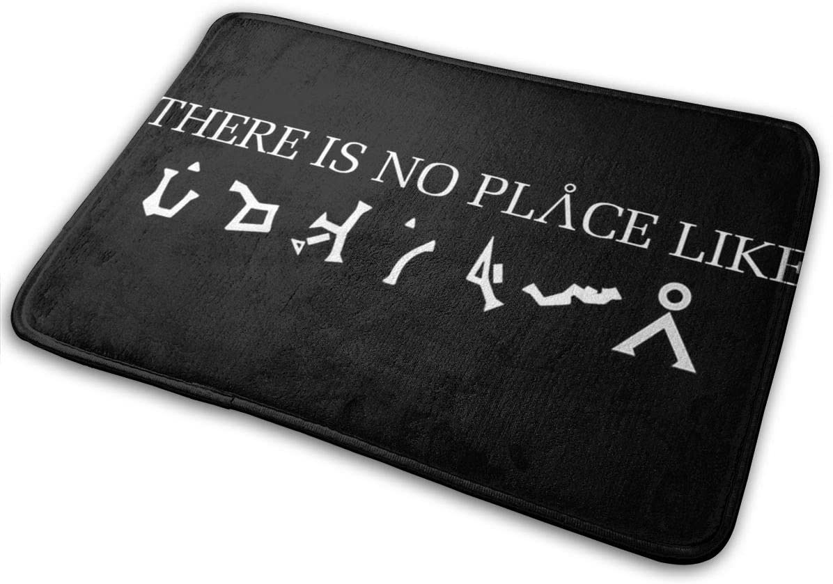 Stargate - There is No Place Like Earth Washable Indoor Outdoor Entrance Rug Non Slip Door Mat Bath Floor Mat 15.7