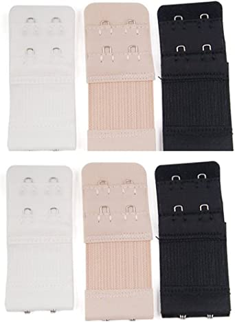 4 Hooks Band Ext Details about  /6pcs Women Ladies Soft Comfortable Back Bra 2 Hooks 3 Hooks
