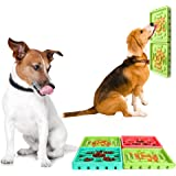 ABTOR Slow Feeder Dog Bowl Dog Lick Mat Set丨 4Pcs Fun Dog Treat Dispensing Mat丨Dog Lid Pad丨 Distraction Device for…