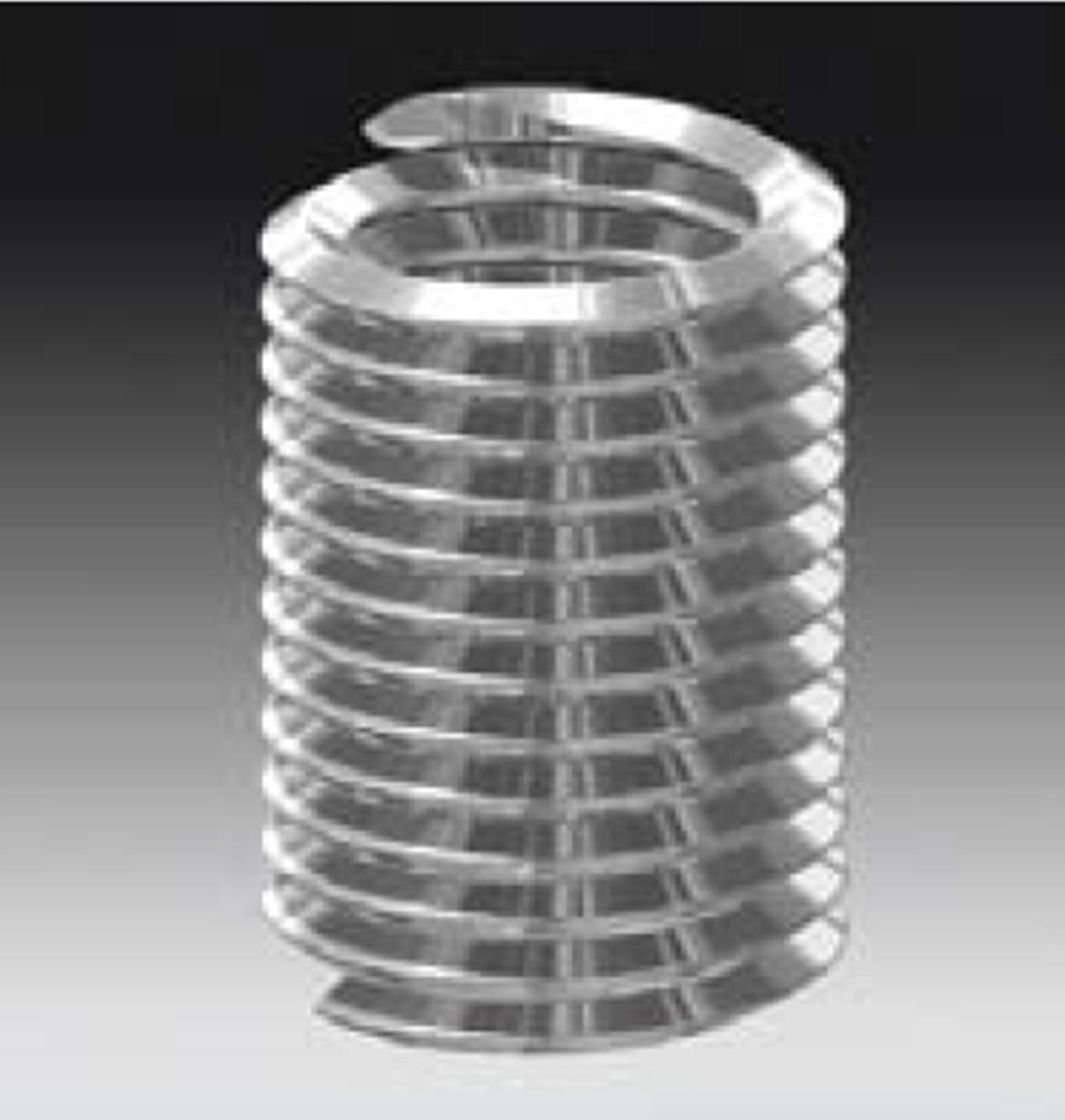 03523SF, Tanged Free Running Helical Insert, Unified [2-56] 1.5D, UNC, SST, Plain Finish [.129] 3.28mm Length (1000 PK)
