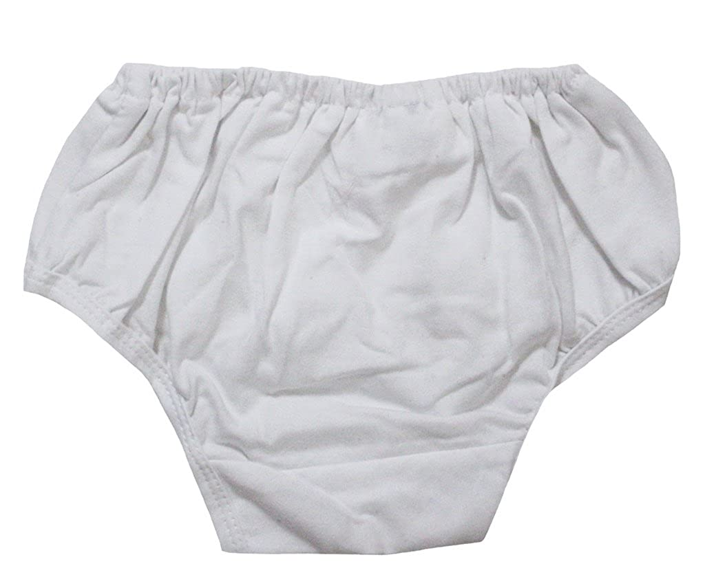 Petitebelle Plain White Cotton Bloomer for Baby 3-12m Petitebella NF00001