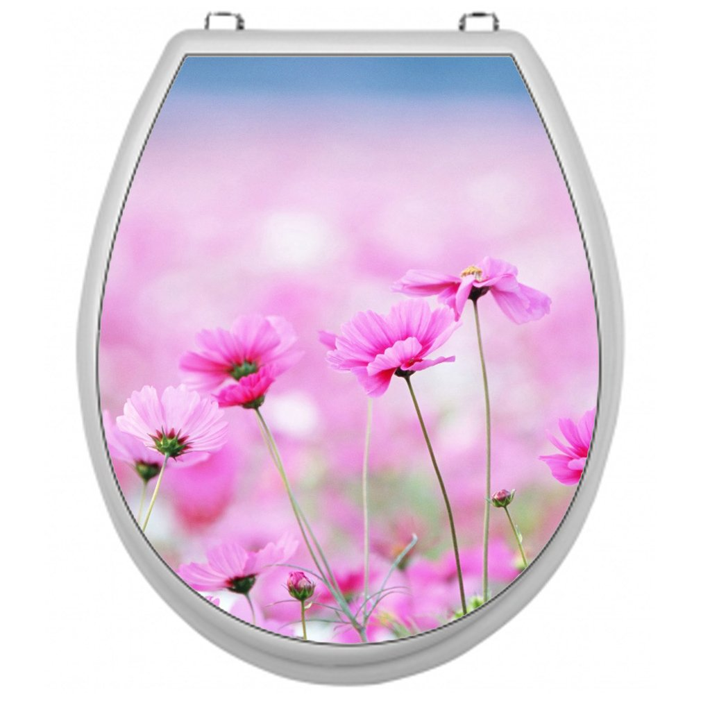 Sticker for Toilet Seat Toilet Lid Cover Decal Sticker Toilet Seat Decal Sticker–Flower Sea Shirt-2-Go TSAU013