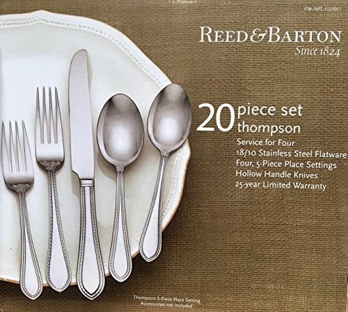 (Reed & Barton 20 Piece 18/10 Stainless Steel Thompson Flatware)