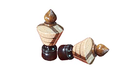 Curtain Bracket Wooden 2 Pcs Rod Ends Finials Caps With Wall Support